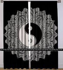 Indian Mandala Window Door Curtains Balcony Drape Room Decor Cotton Curtains Set