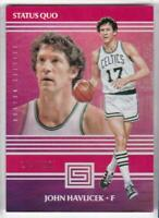 2017-18 Panini Status #7 #/299 John Havlicek Boston Celtics Basketball Card