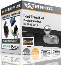 Anhängerkupplung fest FORD TRANSIT VII mit Trittbrett 2006-2013+E-SATZ 13p SPEZ