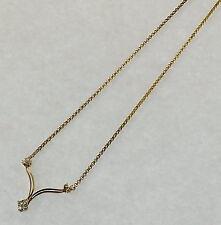 Collier .585 Gelbgold ca. 0,40 ct Brillanten                      #  G  3458