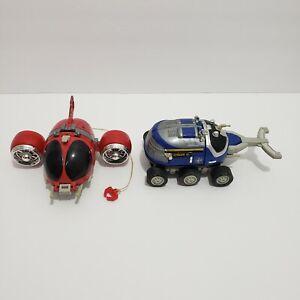 Bandai Beetle Borgs Vehicle Lot Blue Stinger Red AV 1996 Vintage