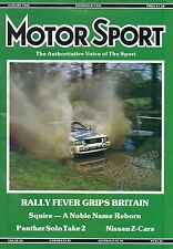PANTHER SOLO 2 - Nissan 300ZX TARGA Turbo - SQUIRE Motor Sport Magazine Jan 1988