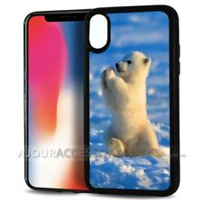 ( For iPhone XS / iPhone X ) Back Case Cover AJ10739 Baby Polar Bear