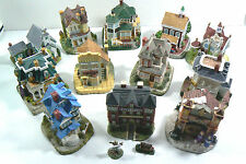 Lot of 14 Liberty Falls Collectible Victorian House Village Town Homes Hand Made
