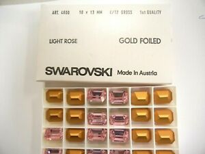 6 swarovski octagon stones,18x13mm light rose,GF #4600