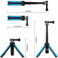 For GoPro Hero 8/7/5/4/3+/Xiaoyi 4K Camera/Phone Waterproof Selfie Stick Tripod