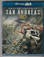 San Andreas (Blu-ray Disc, 2015, 3D & 2D) Brand New Sealed Dwayne Johnson