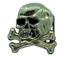 Large Skull & Crossbones Belt Buckle