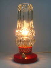GERMAN MODERN ATOMIC SPACE AGE TABLE Lamp 1970s PANTON BUBBLE GLASS /red Plastic