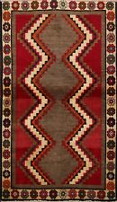 Vintage Geometric Tribal Gabbeh Hand-knotted Area Rug Wool Oriental 3'x5' Carpet