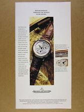 1994 Jaeger LeCoultre Geographique geographic watch color photo vintage print Ad