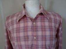Abercrombi & Fitch 'Algodón Seersucker' manga larga camisa rosa/Cuadros sizeXXL