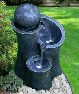Garden Fountain Water Feature LED Indoor Outdoor 3 Tier Garden Statue Lights