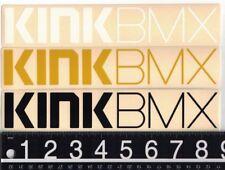 KINK BMX DECAL Kink BMX 8.75 in x 1.75 in Black/White/Gold Cycling Bike Sticker
