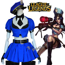 League of Legends Policewoman Kate Game Clothing Cosplay Dress Costume One Size