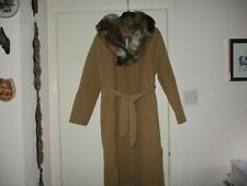 BRAND NEW WITH TAG MISSPAP CAMEL COAT WITH FUR COLLAR M/L