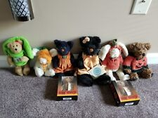 Boyds Bears Plush Lot of 8 Halloween Bears, Bunnies, and Black Cats, Most w tags
