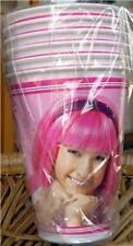 LAZY TOWN Party CUPS x12 Favor Birthday STEPHANIE Pink Decoration Favors Girl NW