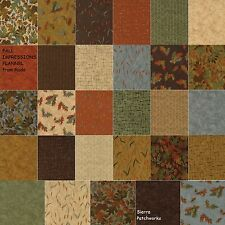 """FALL IMPRESSIONS FLANNEL Charm Pack from MODA - (42) 5""""  squares - 6700PPF"""