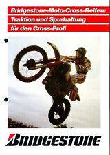 Bridgestone moto cross pneus prospectus 1978 Cross tyres