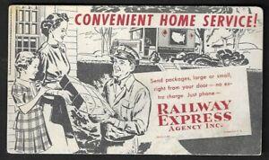 "1930's Railway Express Agency Inc. ""Convenient Home Service!"" Blotter"