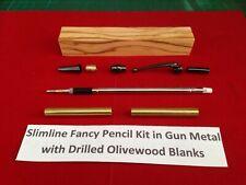1 Kit de pluma de engorda en G//Metal con emparejado Perforados olivewood espacios en blanco nuevo Precio
