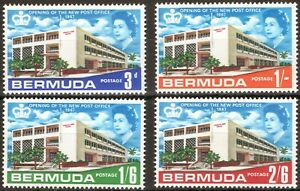 Bermuda 1967 QEII Opening of New Post Office set of 4 mint stamps to 2/-6 LMM