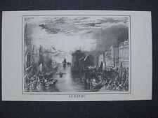 affiche gravure : port du HAVRE
