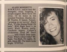 Alanis Morissette Senior High School Yearbook Near Mint Condition