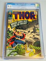 THOR #132 CGC 9.2 OW-WP *OLD LABEL 1ST APPEARANCE EGO STAN LEE JACK KIRBY 12CENT