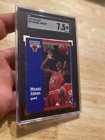Michael Jordan SGC 7.5 Fleer 1991 #29 Card Collector Chicago FIGHT INFLATION NR