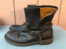 $485 FIORENTINI + BAKER 39 US 9 Carnaby Dark Brown Leather Ankle Boots Bootie C2