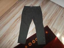 Aniston by Heine Jeans niedrige Leibhöhe Reiteroptik khaki Gr. 42 Kurzgr.21 Neu