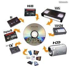transfert numérique copie de cassettes Vidéo et audio sur DVD ou CLE usb