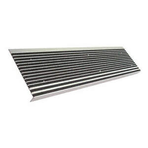 WOOSTER 511BLA5 Stair Tread,Black,60in W,Extruded Alum