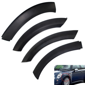 For 2002-2008 Mini Cooper Front & Rear Wheel Arch Fender Flares Hood Trim Cover
