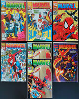 Lot of 7 Marvel Quarterly & Annual Reports 1992-1993 ALL NM