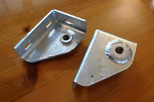 2x Seatbelt Mounting Brackets Galvanized for Land Rover Series 2A/3 Defender
