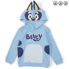 New Genuine Size 1 Bluey Light Blue Long Sleeve Kid Hoodie