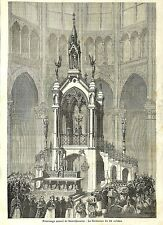 SAINT-QUENTIN PELERINAGE ANNUEL AU TOMBEAU GRAVURE ILLUSTRATION 1877