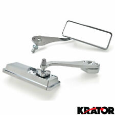 Custom Bull Dog Rear View Mirrors Chrome Pair For Suzuki GN 125 250 400 650