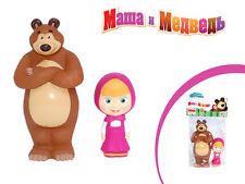 Masha and the bear, Set of 2 toys, russian cartoon toys, plastisol