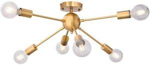 Modern Ceiling Lights Sputnik Chandeliers Hanging Lamp 6-Lights Pendant Lighting