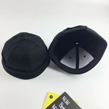 1pc Retro Men Unisex Hat Skullcap Sailor Cap Docker Black Rolled Cuff Brimless
