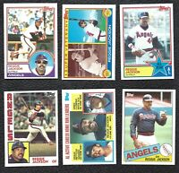 1983 84 Topps Reggie Jackson Vintage Baseball 6-Card Lot California Angels NM-MT