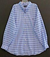 Polo Ralph Lauren Big and Tall Mens 2XLT Blue Checks Button-Front Shirt NWT 2XLT
