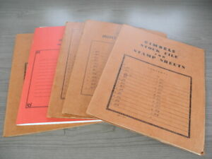 US, 140 Complete MINT NH old Sheets of Stamps in sheet files