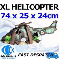 Aqua One Aquarium Fish Tank Ornament Ruined Helicopter XL 74x25x24cm 36979