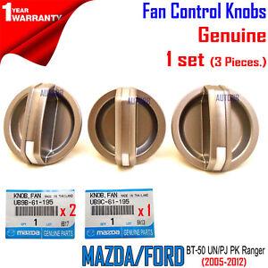Genuine Heater Fan Control Knobs x 3 Ford PJ PK Ranger BT-50 For Mazda UN 05-12