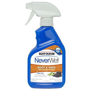 RustOleum Never Wet 11 Ounce Shoe and Boot Spray Clear Waterproof Silicone Free